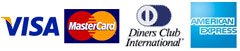 Cards accepted - Visa, MasterCard, Diners Card and American Express