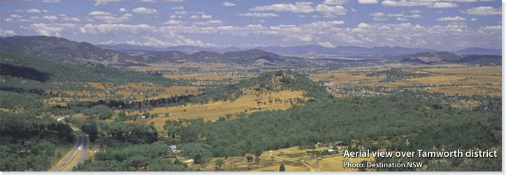 Aerial view over Tamworth district