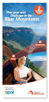 Plan your next DayScape in the Blue Mountains Brochure