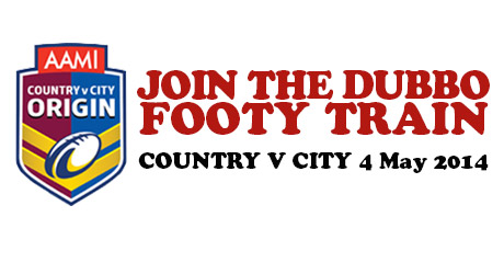 Get the Dubbo footy Train