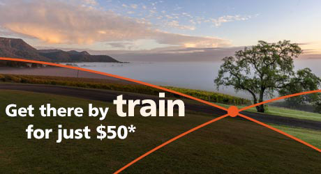 Get there by train for just $50*