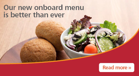 Our new onboard menu is better than ever