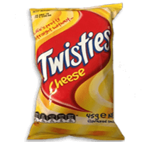 Twisties cheese chips